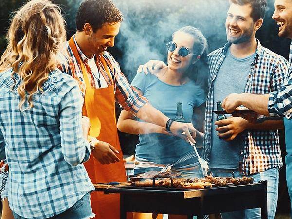 Campeggio e barbecue